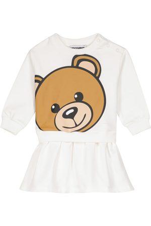Moschino Baby Teddy fleece sweatshirt dress