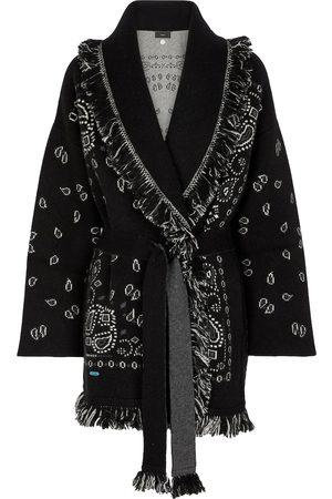Alanui Women Cardigans - Bandana cashmere-blend jacquard wrap cardigan