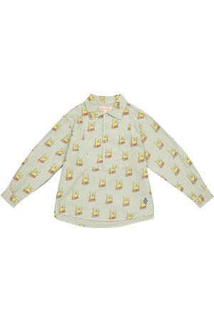 The Animals Observatory Mandrill bird-print cotton shirt