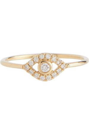 Sydney Evan Evil Eye 14kt ring with diamonds