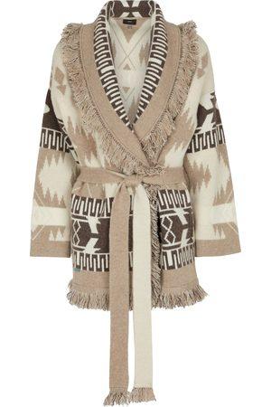 Alanui Women Cardigans - Icon cashmere-blend jacquard wrap cardigan