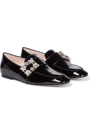 Roger Vivier Mini Broche patent leather loafers