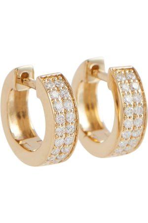 Sydney Evan Two Row 14kt huggie earrings with diamonds