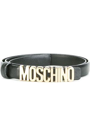 Moschino Women Belts - Slim logo belt