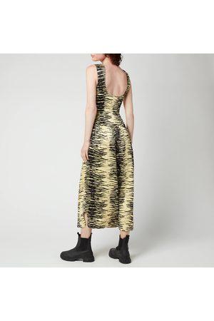 Ganni Women Midi Dresses - Women's Crinkled Satin Dress