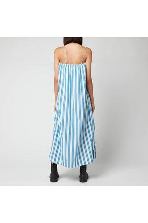 Ganni Women Midi Dresses - Women's Stripe Cotton Dress