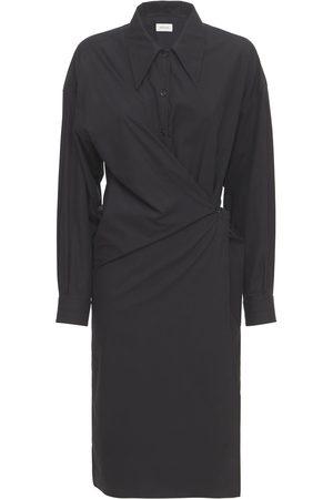 LEMAIRE Twisted Cotton Poplin Midi Shirt Dress