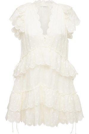 ZIMMERMANN Women Casual Dresses - Mae Chiffon Jacquard Mini Dress