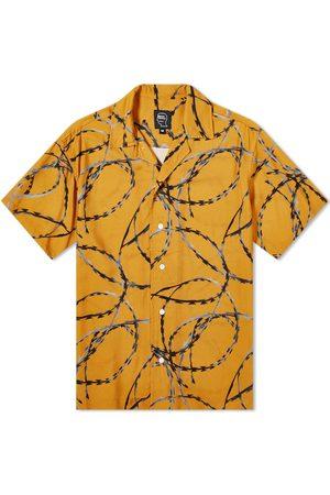 Brain Dead Men Long Sleeve - Razorwire Shrt Sleeve Shirt