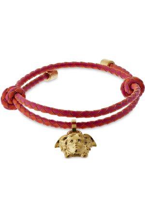 VERSACE Women Bracelets - Medusa Charm Leather Bracelet