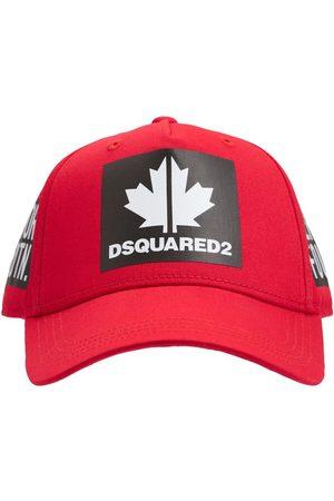 Dsquared2 Logo Print Cotton Gabardine Baseball Hat