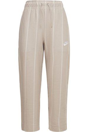 Nike Striped Cotton Jersey Pants
