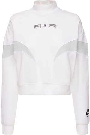 NIKE Mock Cotton Blend Sweatshirt