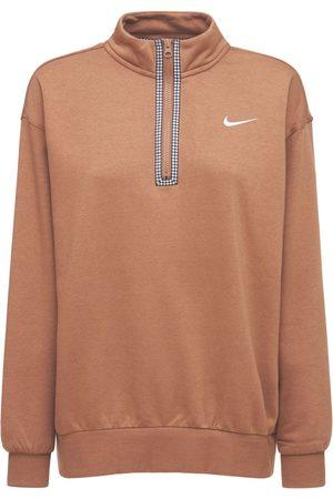 Nike Cotton Blend Half Zip Sweatshirt