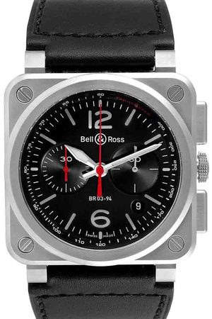 Bell & Ross Stainless Steel Aviation Chronograph BR0394 Men's Wristwatch 42 MM