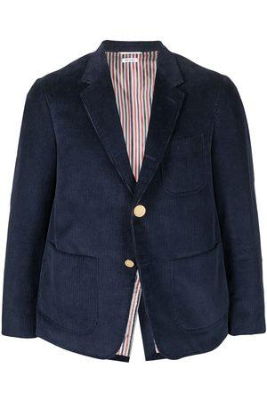 Thom Browne Men Blazers - Single-breasted corduroy blazer