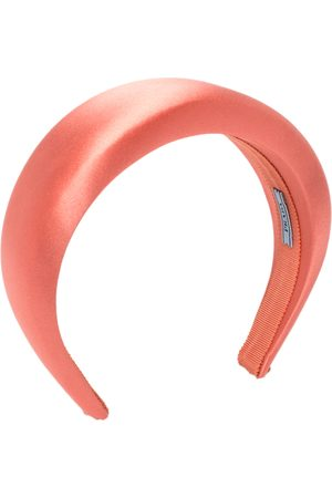 Prada Coral Padded Satin Headband