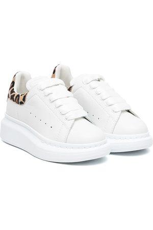 Alexander McQueen Sneakers - Leopard-panelled sneakers