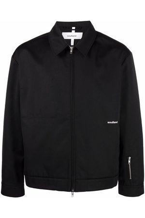 Soulland Windom logo-print shirt jacket