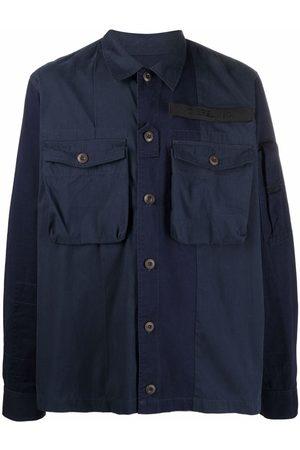 Diesel Chest-pocket panelled overshirt
