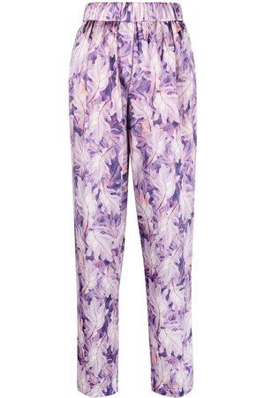 FORTE FORTE Leaf-print trousers