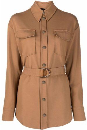 Pinko Belted single-breasted shirt jacket