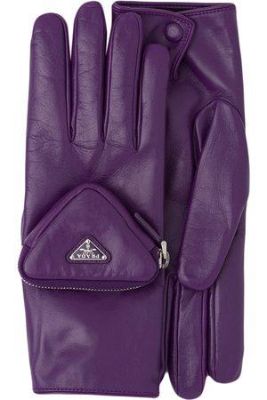 Prada Men Gloves - Pouch detail logo gloves