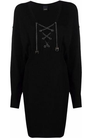 Pinko Chain-detail knitted dress