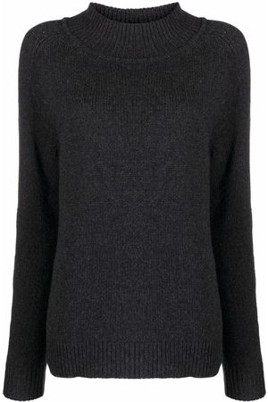 Filippa K Funnel-neck knit jumper - 1431 ANTHRACITE MELANGE