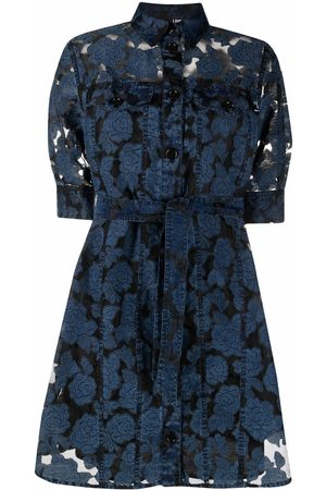 Love Moschino Women Nightdresses & Shirts - Embroidered organza chemise dress