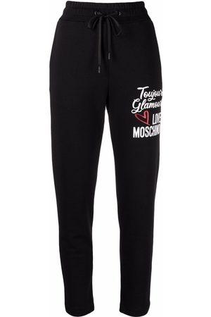 Love Moschino Logo-print cotton joggers