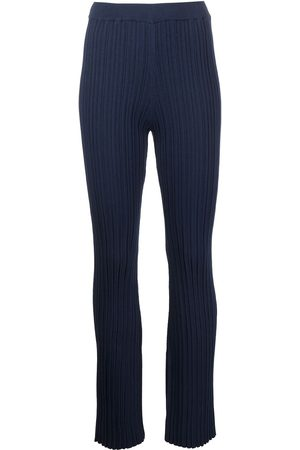 ADAM LIPPES Cotton crepe flared trousers