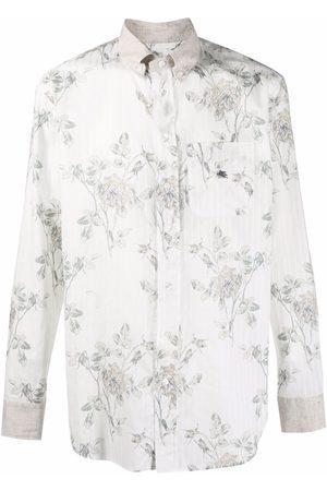 Etro Striped floral-print shirt