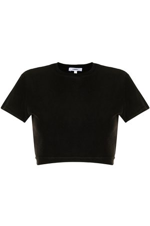 Miaou Frida terry cloth cropped top