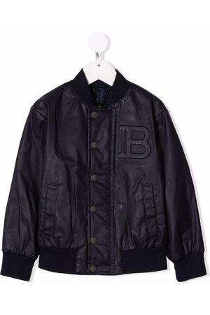 Balmain Logo-embossed bomber jacket