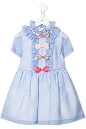Hucklebones London Girls Dresses - Multi-bow mini dress