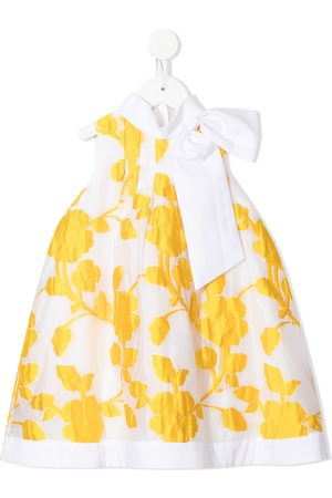 Hucklebones London Sunburst floral-embroidered trapeze dress