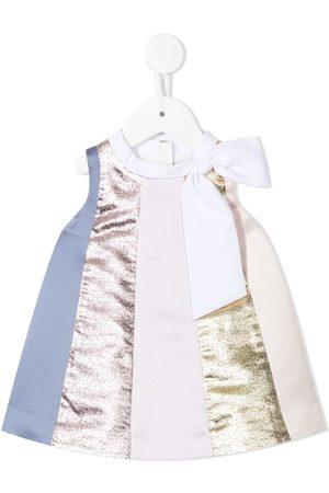 Hucklebones London Baby Dresses - Rainbow trapeze panelled dress - Multicolour
