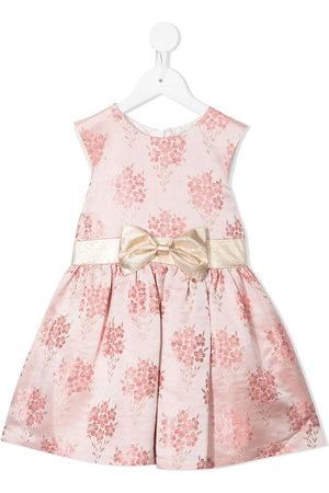 Hucklebones London Girls Printed Dresses - Floral jacquard mini dress