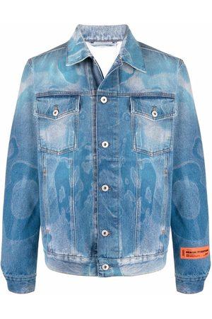 Heron Preston Men Denim Jackets - Graphic-print denim jacket