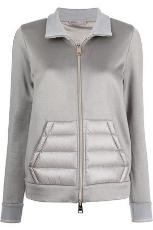 HERNO Padded-panel zip-front jacket - Grey