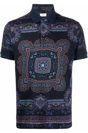 Etro Scarf-print polo shirt