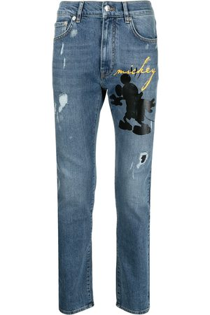 Iceberg Mickey-print skinny jeans
