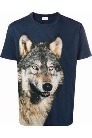 Etro Wolf-print cotton T-shirt