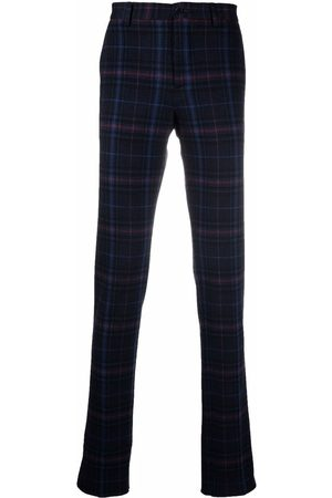 Etro Men Formal Pants - Check pattern tailored trousers