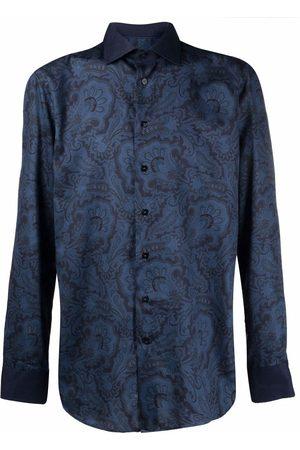 Etro Men Long sleeves - Long-sleeved paisley-print shirt