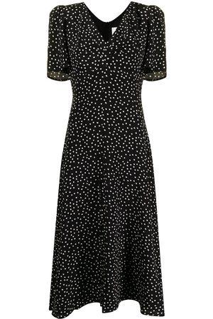 JANE Miranda spot-print midi dress