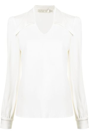 JANE Marlow spread-collar blouse