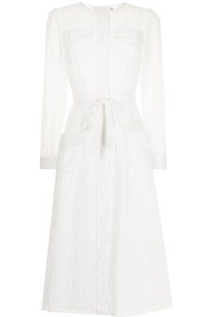 JANE Mayflower semi-sheer midi dress