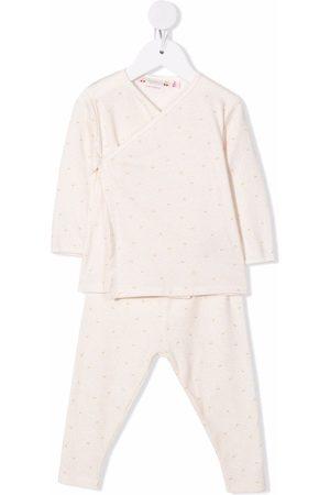 BONPOINT Pajamas - Polka dot-print cotton pajamas set - Neutrals